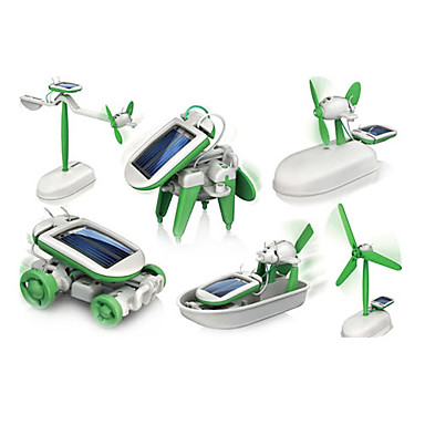6 In 1 Robot Toy Cars Solar Powered Toys Space Toys Science & Discovery Toys Toys ABS Plastic Pieces Boys' Girls' Gift