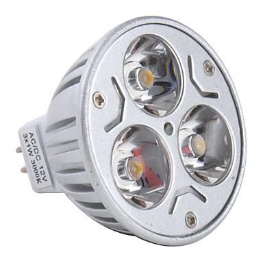 3000lm GU5.3(MR16) LED Spot Işıkları MR16 3 LED Boncuklar Yüksek Güçlü LED Sıcak Beyaz 12V