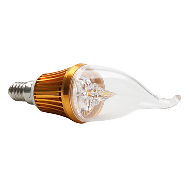 E14 3x1W 270-300LM 3000-3300K Warm White Light LED Candle Bulb (220V)