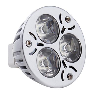 3W 260-300lm GU5.3(MR16) LED Spot Işıkları MR16 3 LED Boncuklar Yüksek Güçlü LED Doğal Beyaz 12V