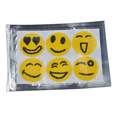 Smiley Face Mosquito Repellent Stickers