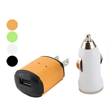 2-in-1 Car and AC Charger for iPhone and Cell Phone (Assorted Colors)