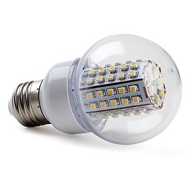 2800lm E26 / E27 LED Küre Ampuller G60 66 LED Boncuklar SMD 3528 Sıcak Beyaz 220-240V