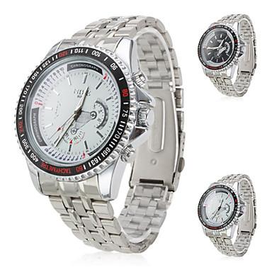 des hommes d'affaires en silicone au poignet la montre à quartz analogique (argent)