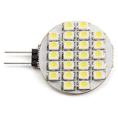 2W 6000 lm G4 LED Spot Işıkları 24 led SMD 3528 Doğal Beyaz DC 12V