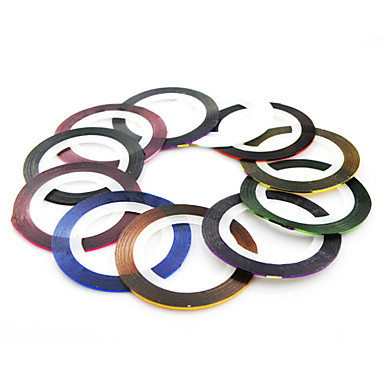 1 pcs Rolls Tape Line Strips Nail Decoration Sticker(11 Colors To Choose)