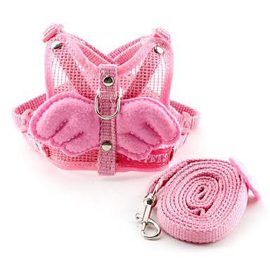 개 하니스 / 가죽끈 귀여운 귀여워 / 통기성 핑크 직물
