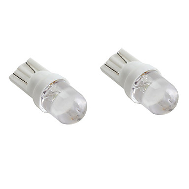 T10 White Light LED Bulb for Car Signal Lamps (2-Pack, DC 12V)