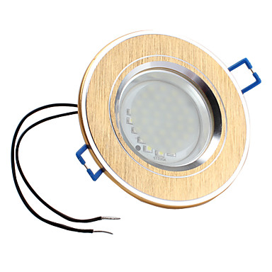 2W 3528 SMD 36-LED 240LM White Ceiling Spot Light Bulb Gold (Brushed, Half Frosted Glass Cover)