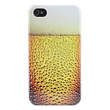 Custodia rigida modello Birra per iPhone 4 e 4S - Giallo