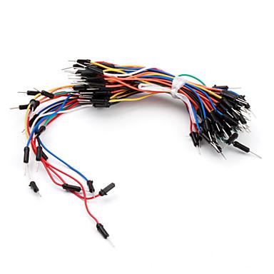elektronik diy lehimsiz esnek breadboard jumper kablo telleri 65pcs