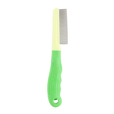 Anti-Flea Stainless Steel Dog and Cat Comb (Green)