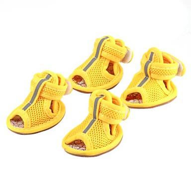 Perro Zapatos y Botas Casual/Diario Un Color Amarillo Rojo Azul Rosa Para mascotas