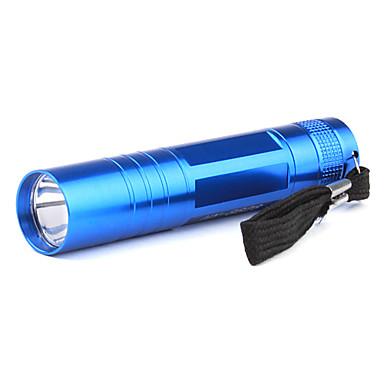 Portable 1-Mode Aluminum Alloy LED Flashlight (1xAA, Blue)