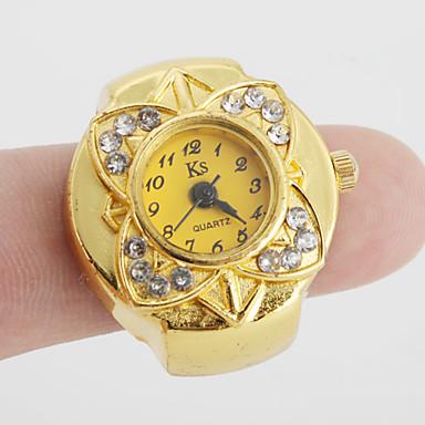 Kadın's Yüzük Saat Japonca Quartz Gündelik Saatler Alaşım Bant Çiçek Vintage Altın Rengi - Altın Bir yıl Pil Ömrü / SSUO SR626SW