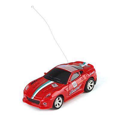 amerikansk stil 1:63 mini radiostyrning racerbil (röd)