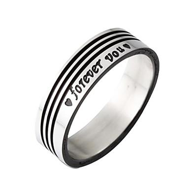 eruner®titanium стали черные полосы кольцо
