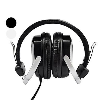 Kanen Foldable Stereo PC Headphone Headset (Desktop Microphone Included)