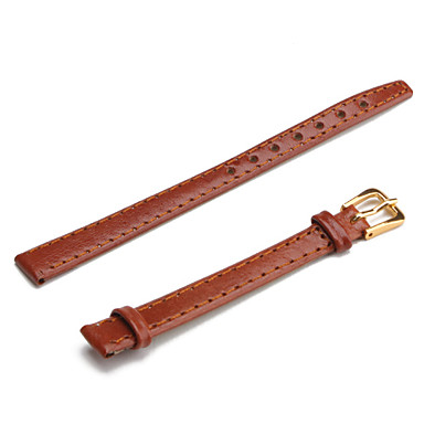 Unisex PU Leather Watch Strap 10MM(Brown)