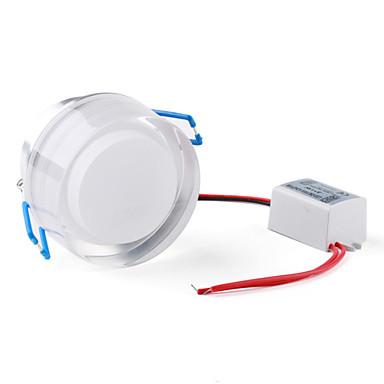 3 W 3 High Power LED 300 LM Blue Recessed Retrofit Ceiling Lights AC 85-265 V