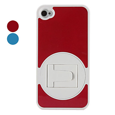 Hard Case with Stand for iPhone 4 and 4S (Assorted Colors)
