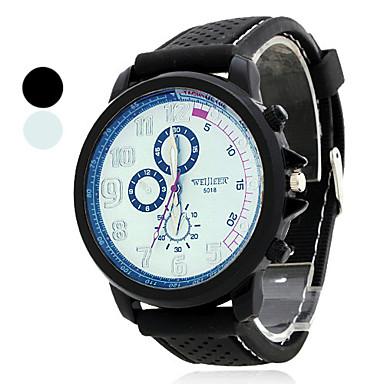 Homens Quartzo Relógio Elegante Japanês Venda imperdível Borracha Banda Amuleto Preta