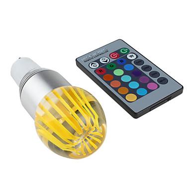GU10 - 3 Globepærer (RGB/Fargeskiftende , Remote-kontrolleret) 300 lm- AC 85-265