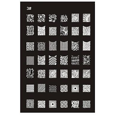 Nova recomendada Nail Art Stamp Estamparia Imagem Modelo Placa