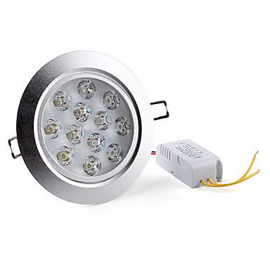 Lâmpada de Embutir / Lâmpada de Teto 12W 1200 LM 6000K K Branco Natural 12 LED de Alta Potência AC 85-265 V Encaixe Embutido