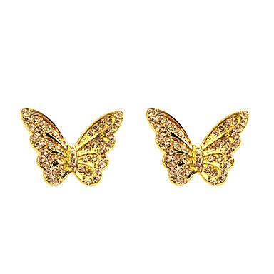 mariposa pendientes lureme®alloy con diamantes montados
