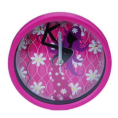 Dancing Girl Pattern Pink Analog Wall Clock (1xAA)