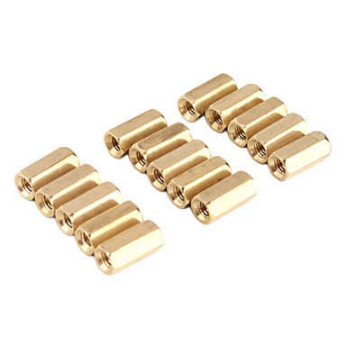 Two-way Brass DIY Binding Post Terminals for (For Arduino) - Golden (50 PCS)