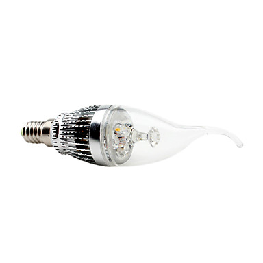 Lampandine a candela 3 LED ad alta intesità CA35 E14 3 W Decorativo / Intensità regolabile 300 LM Bianco AC 220-240 V