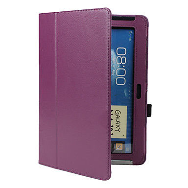 Case For Samsung Galaxy Samsung Galaxy Note with Stand Flip Full Body Cases Solid Color PU Leather for Note 10.1 Tab 2 10.1