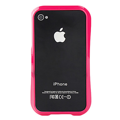 Fashion Design Bumper Case for iPhone 4 and 4S (Assorted Colors)
