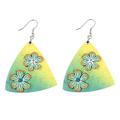 z&X® suaves cerámica hojas coloridas pendientes