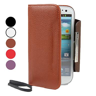 PU Ledertasche mit Geldbörse und Card Slot für Samsung Galaxy S3 I9300 (verschiedene Farben)