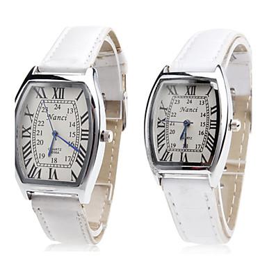 Men's Women's Couple's Quartz Wrist Watch Japanese Hot Sale Band Charm Fashion White