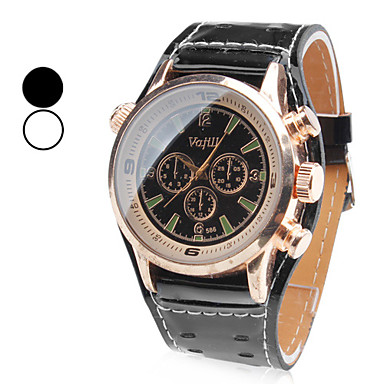 Men's Quartz Wrist Watch Japanese Hot Sale Band Charm Dress Watch Black White