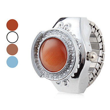 Women's Ocean Alloy Analog Quartz Ring Watch (Blue)