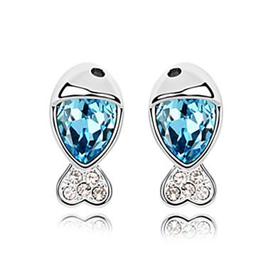 Big Crystal Water-drops Pattern Fashion Earrings