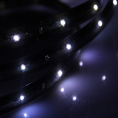 Vandtæt 30cm 12-LED White LED Strip Light (12V)