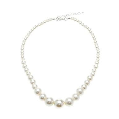billige Mode Halskæde-Dame Kædehalskæde Perlehalskæde Perle Mode Elegant Brude Hvid Halskæder Smykker Til Bryllup Fest Daglig