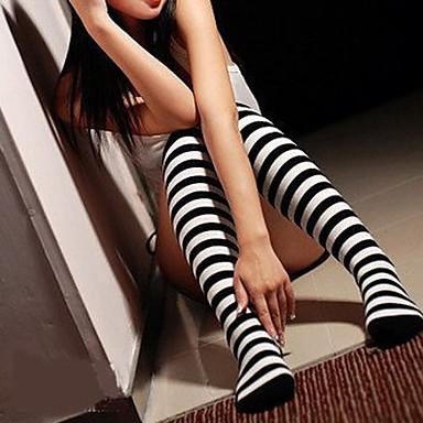 Çoraplar Klasik/Geleneksel Lolita Lolita School Lolita Kadın's Lolita Aksesuarları Çizgili Uzun Çorap Spandex Naylon