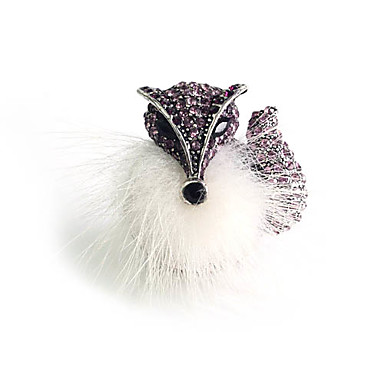 Feather Fox circón anillo de aleación