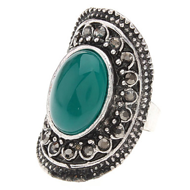 Vintage Tibet Silber Achat Adjustable Ring