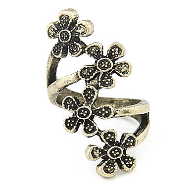 Flores Wrapped Around The Ring Finger Alloy