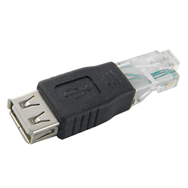 USB Female to RJ45 Male Adapter for network/computer High quality, durable