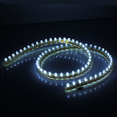 Vandtæt 72cm 72-LED White LED Strip Light til Car (12V)