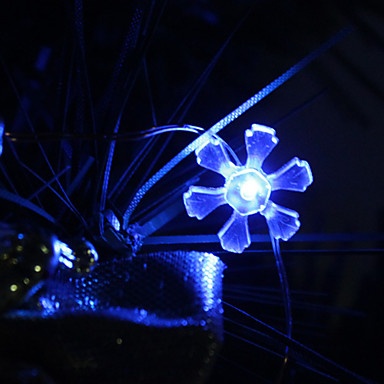 2M 20-LED Blue Light Petal Shaped LED String Fairy Lamp (3xAA)